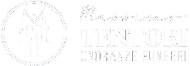 Logo Massimo Tentori Onoranze Funebri bianco